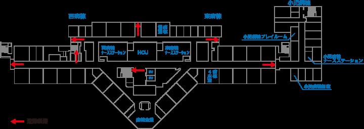 避難経路図2階